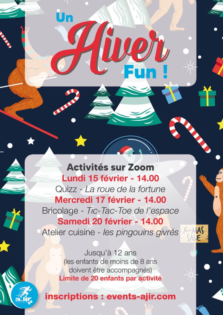 """""""Un Hiver Fun"""" : programme d'animation durant les vacances d'hiver"""